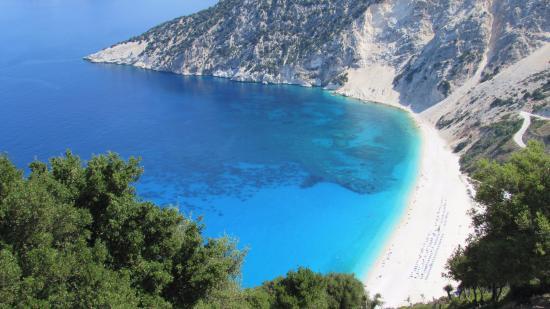 Myrtos Beach: Un panorama fantastico, sembra una cartolina