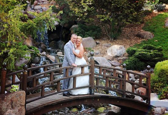 Our wedding day at the Dubuque Arboretum