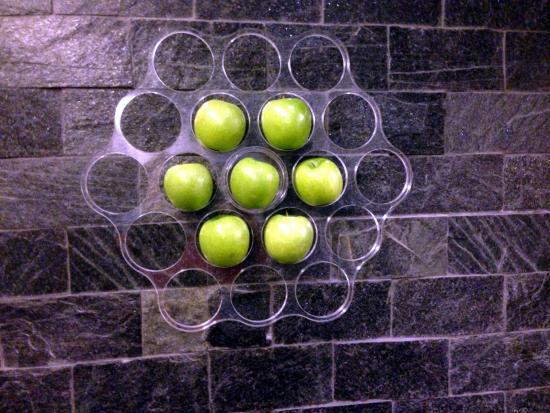 Anderlecht, Belgio: Allein diese stylischen Apfelhalter sgaen viel über das Design.