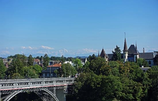 BELLEVUE PALACE Bern: view from the restaurant terrace
