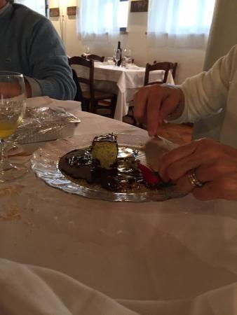 dolce al pistacchio e cioccolata
