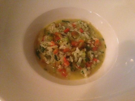 Aalborg, Danmark: Seond dish: rice and vegetable, seems simple but extremely tasteful!