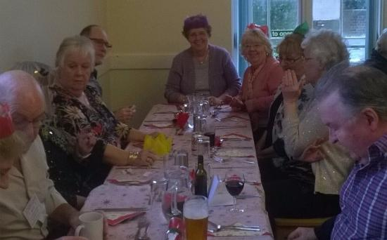Gosport, UK: The Christmas lunch for Streetlife members at Bury House Bistro