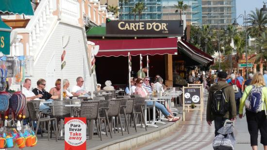 Carte D'Or is right on the paseo south of the marina   Picture of