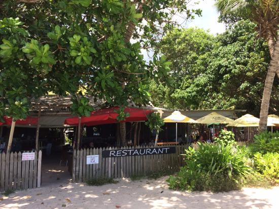 Anse Royale, Seychelles: exterior of restaurant right on beach