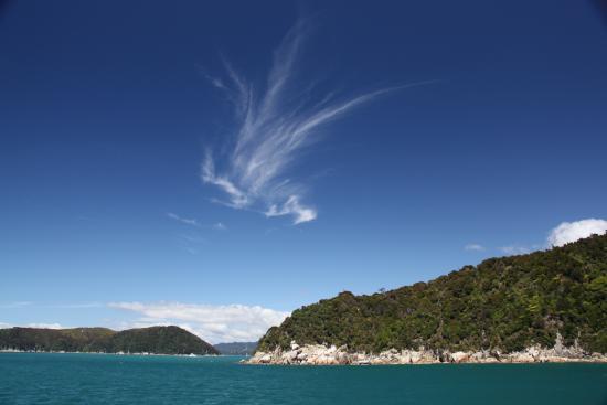 Abel Tasman National Park, New Zealand: Kayaktocht en zicht vanuit de kust