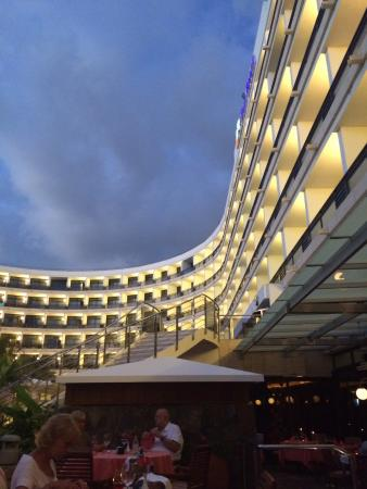 Seaside Palm Beach: Hotel from speciality restaurant