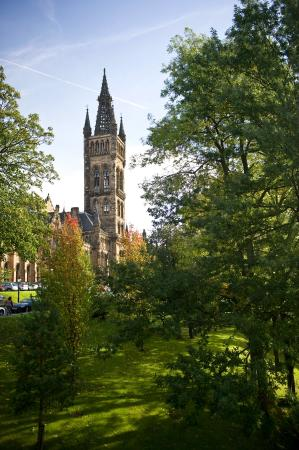 University of Glasgow: A view of the University's Tower