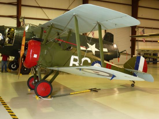 Valiant Air Command Warbird Museum: This Sopwith Camel, parked right next to its German counterpart.....