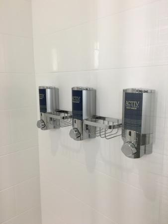 Shower soaps are dispenser-style