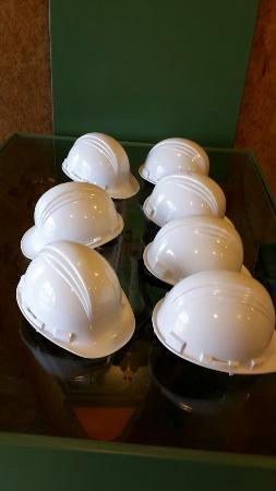 Hellevoetsluis, Países Bajos: De te dragen helmen