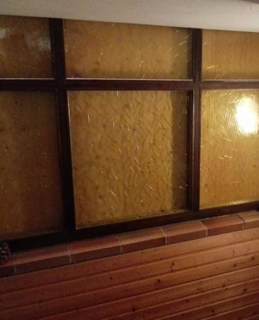 Lauterbach, Tyskland: Holz vor den Treppenhausfenstern