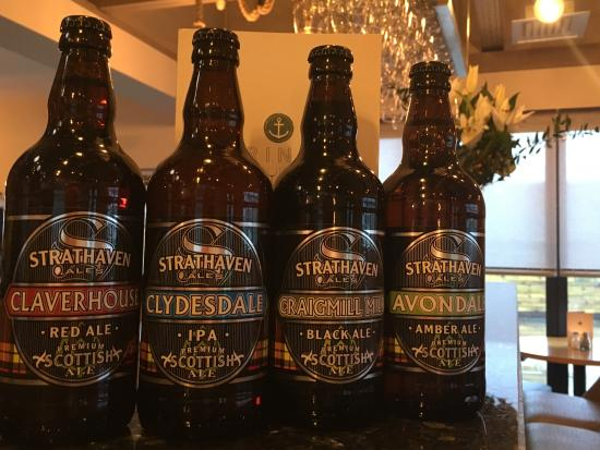 Strathaven, UK: Ales from the local brewery