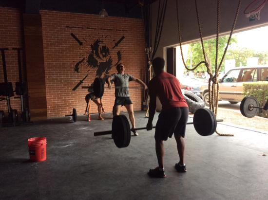 2e825617887 They have shirts and hats for sale - Picture of Crossfit Playa del ...