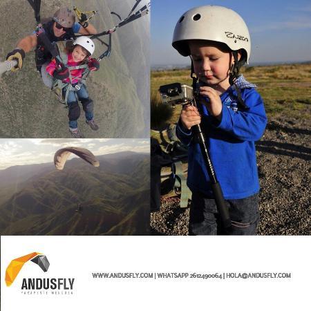 Godoy Cruz, Arjantin: niños VOlando