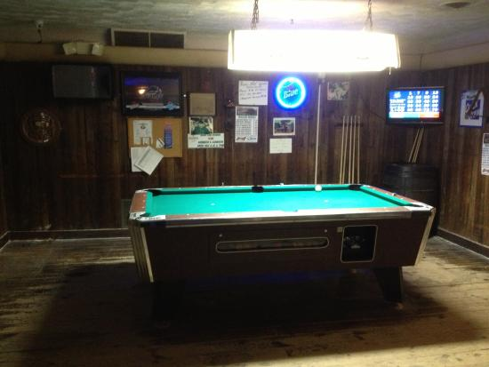 Medina, estado de Nueva York: Walsh House - pool table area