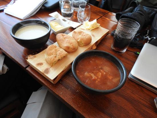 Stykkisholmur, Island: Hot soups delivered with home made rolls