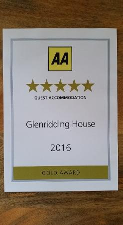 Glenridding, UK: AA FIVE GOLD STAR 2014, 2015, 2016
