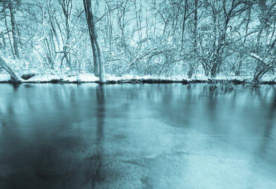 Bohemia, estado de Nueva York: stream 4 slow shutter speed
