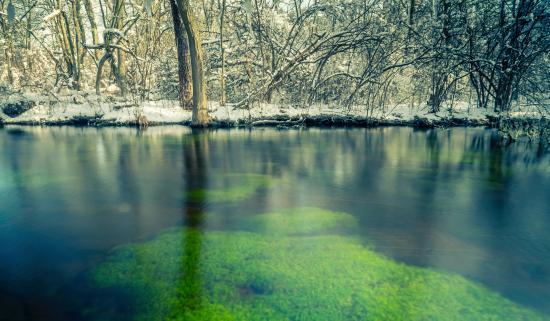 Bohemia, estado de Nueva York: stream 5 slow shutter speed
