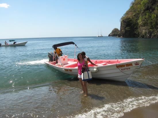 Gros Islet, St. Lucia: Water taxi to Anse Chastanet