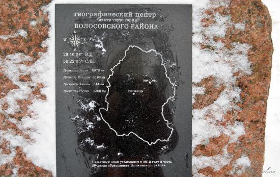 Letoshitsy, Russia: Географический знак.