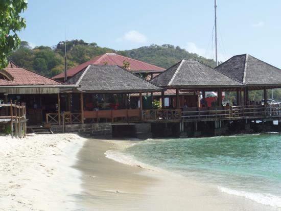 Mustique: Basil's Bar from the beach