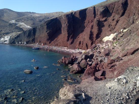 Akrotiri, Griechenland: Playa roja