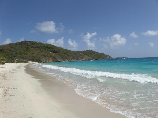 Macaroni Beach on the Caribbean island of Mustique