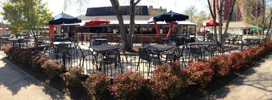 Mellow Mushroom Pizza Bakers - Downtown Raleigh: GIANT patio