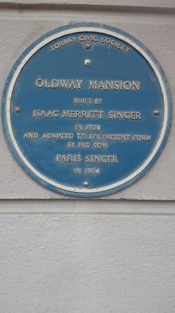 Paignton, UK: Sign at oldway mansion