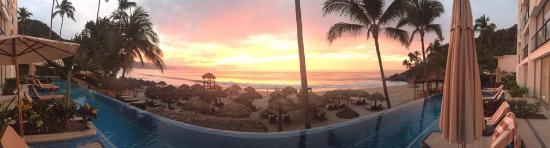 Hyatt Ziva Puerto Vallarta: This is a panoramic view from our swim-up suite. Absolutely amazing!