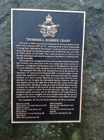 Maple Ridge, Kanada: One of several plaques