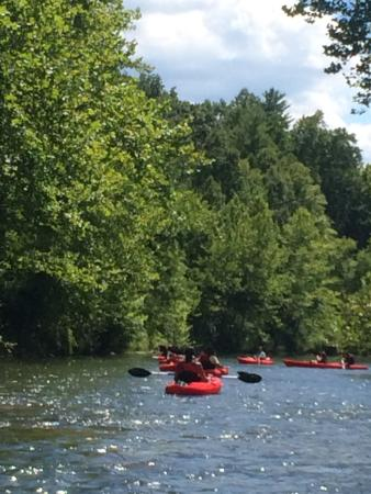 White Sulphur Springs, Virginia Occidentale: kayak group