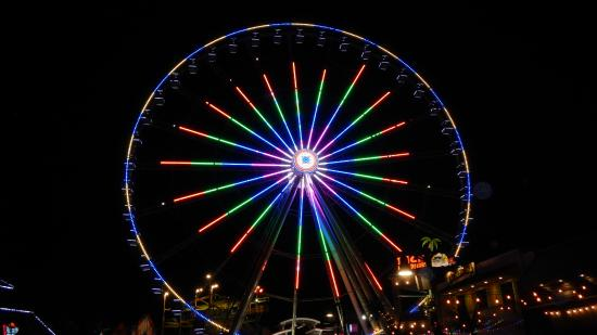 The Island In Pigeon Forge The Wheel A Psychedelic Change Of Color