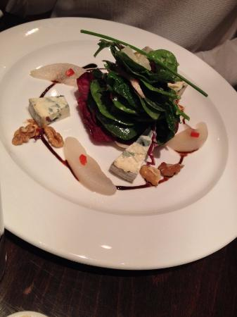 The Blackboard Bistro: Poached Pear and Blue Cheese Salad