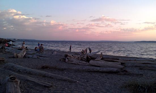 Edmonds, WA: The kiddos enjoy driftwood climbing