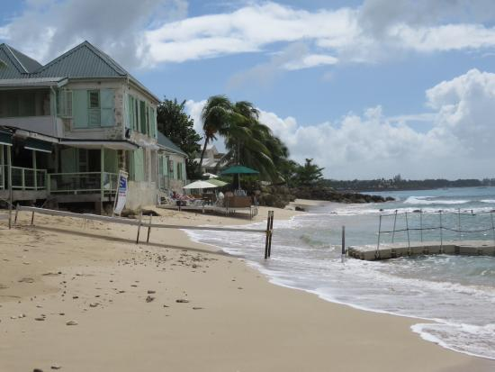 Speightstown, Μπαρμπάντος: Quiet beach alongside the restaurant