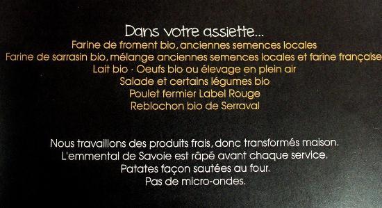 Thones, Frankrike: Dans votre assiette...