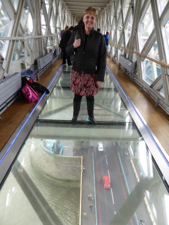 Very Brave Standing On The Glass Floor But Still With Beam Under