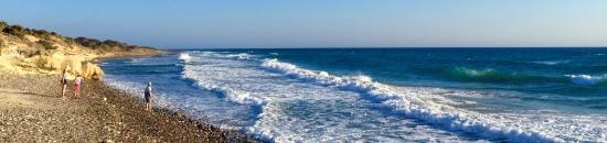 Kefalos, Grecja: Beach is made of big round stones. It is nice to explore!
