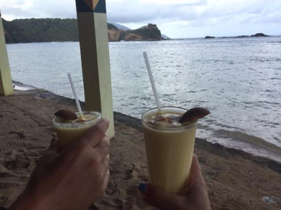 Calibishie, Dominica: the most delicious drink EVER had!