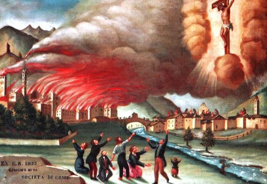 Bormio, Italia: Чудо спасения от огня