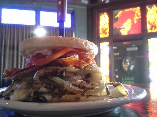 The Gaston Burger - Grilled onions, feta, and bacon!