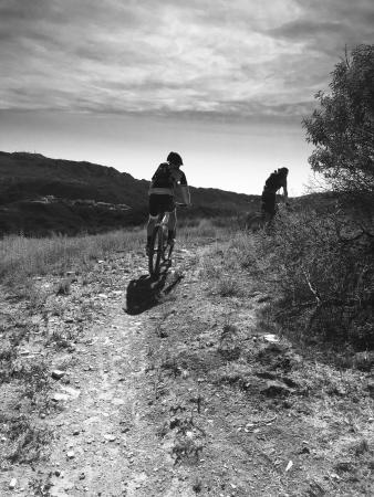 Topanga, CA: Ride from the shop to the trails. Park and mountain bicycle rides from the trails above Los Ange