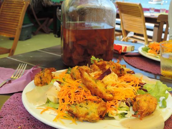 Terre-de-Haut, Guadeloupe: La salade antillaise