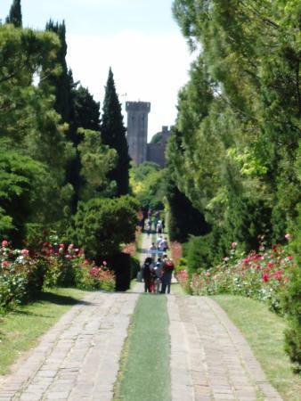Sullo sfondo il castello scaligero di valeggio sul mincio - Parco giardino sigurta valeggio sul mincio vr ...