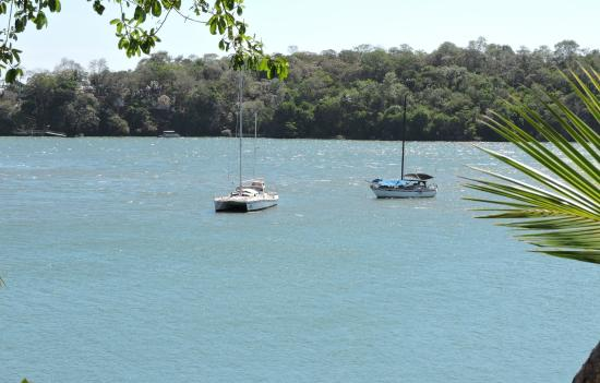 Boca Chica, Panamá: Not a bad way to enjoy the scenery.