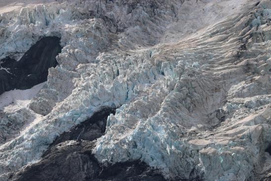 Mt. Cook Village, Νέα Ζηλανδία: Dirty glaciers!
