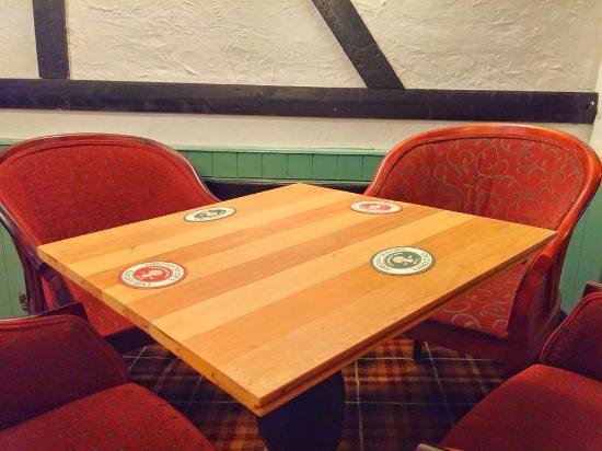 table tops made of reclaimed flooring salvaged from drighlington rh tripadvisor co uk